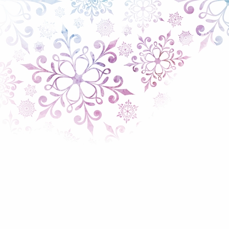 Christmas background with snowflakes  New Year card  Vector