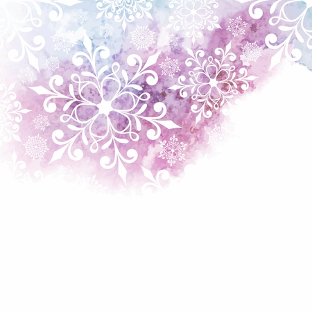 Christmas background with snowflakes  New Year card