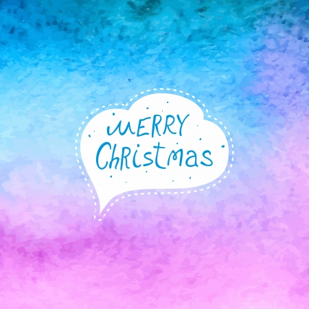 Vintage Christmas background  Watercolor background
