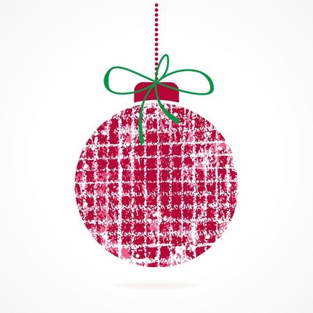 Christmas ball  Christmas decoration  Festive christmas postcard    1055;Grunge tag  Vector