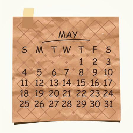 detachable: 2014 calendar design  May