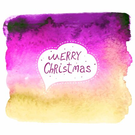 Christmas card  Christmas decoration on watercolor background  Magic background  Illustration