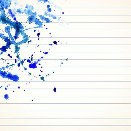 exercise book: Watercolor splash background