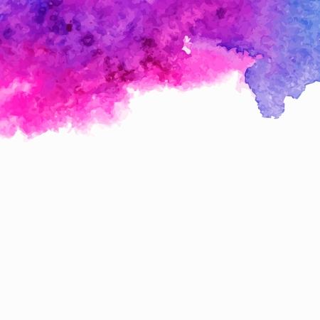 벡터 배경 여러 가지 빛깔의 수채화 시작