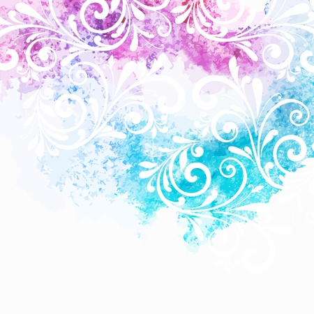 Aquarell floral background