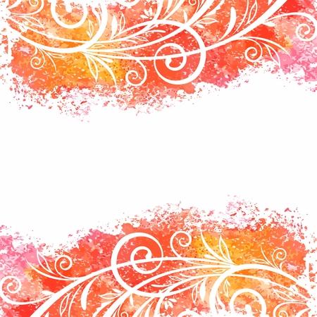Watercolor floral background Illustration
