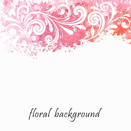 Watercolor floral background Ilustração