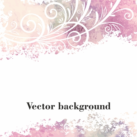 Watercolor floral background Stock Illustratie