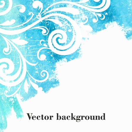 Watercolor floral background  Grunge floral pattern  Illustration