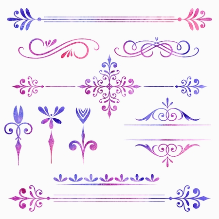 Élément calligraphique définir la couleur des éléments décoratifs