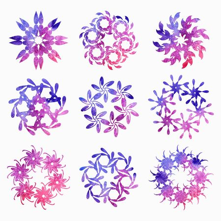 rosetta: Design elements, abstract flowers Illustration