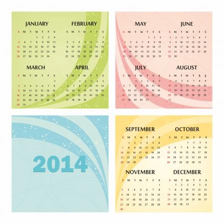 detachable: 2014 calendar design
