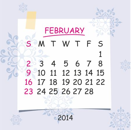 2014 calendar design  February