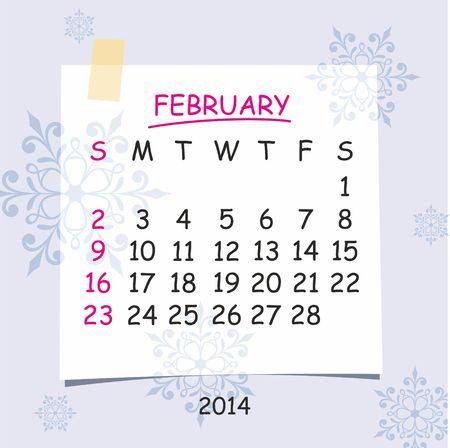 detachable: 2014 calendar design  February