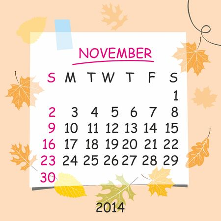 detachable: 2014 calendar design  November
