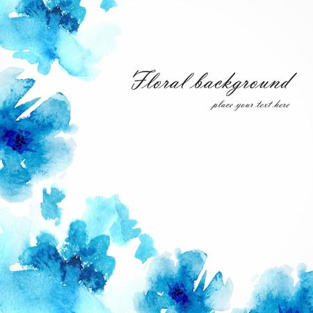 수채화 꽃 배경 꽃 꽃다발 벡터 꽃 카드 초대 생일 카드