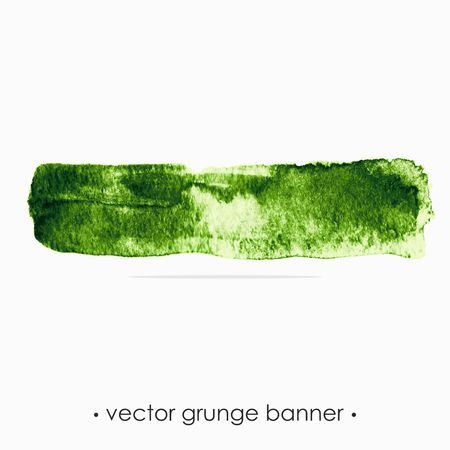 Grunge banner  Grunge watercolor background  Green watercolor spot  Vector