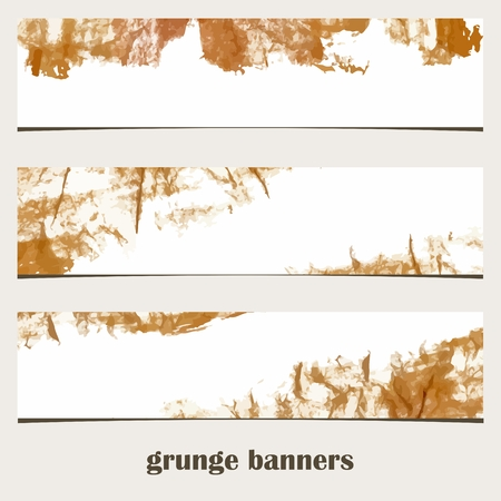 urban style: Grunge banners  Urban style  Watercolor spots  Website decorative elements  Website banners