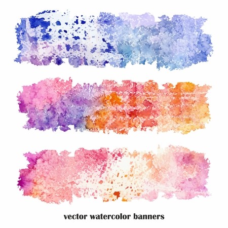 urban style: Multicolor grunge banners  Urban style  Watercolor spots