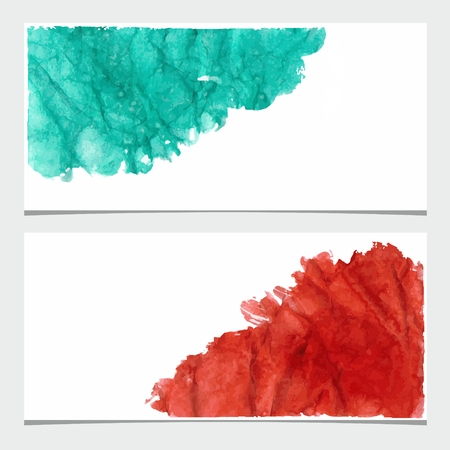 urban style: Abstract grunge banners  Urban style  Watercolor stains on crumpled paper
