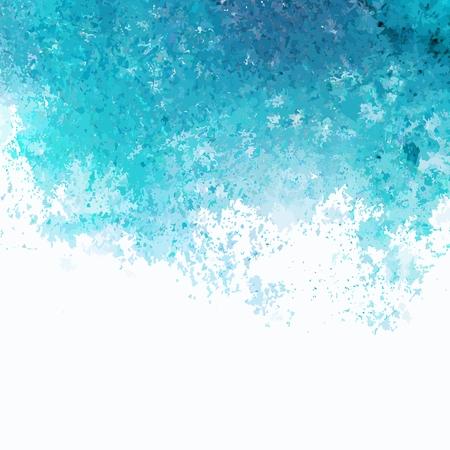 Vector background  Turquoise watercolor splash  Watercolor spots Banco de Imagens - 25592350