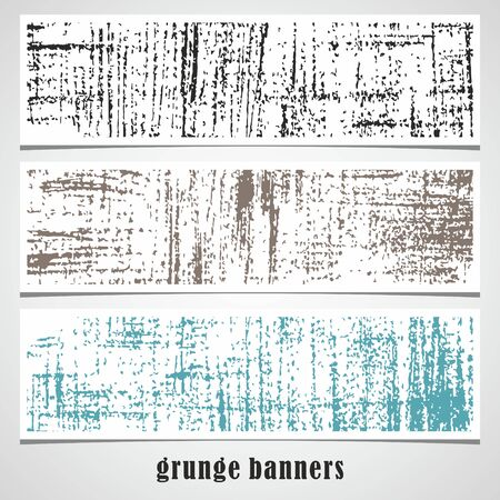 Set of grunge banners Site header  Vector