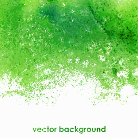 Vector background  Green watercolor splash  Watercolor spots  Grunge background  Illustration