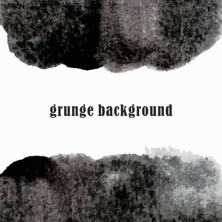 Grunge watercolor background  Black watercolor spot  Vector