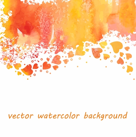 Watercolor heart background  向量圖像