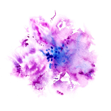 Lilac flower  Watercolor floral illustration  Floral decorative element  Floral background  Stock Photo