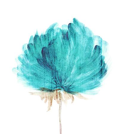 gently blue: Flower  Watercolor floral background  Floral decorative element