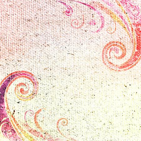 background canvas: Vintage floral background  Canvas texture  Stock Photo