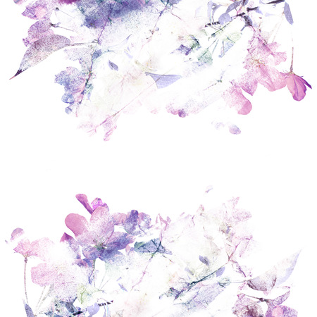 Floral background  Roses  Watercolor floral bouquet  Birthday card Imagens - 27491199