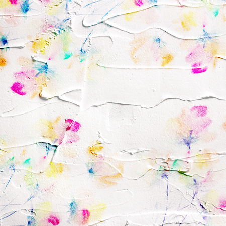 Paint stucco background  Picture with floral bouquet  Painted canvas  Stock Photo
