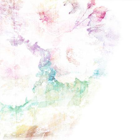 Floral background Aquarelle bouquet floral carte d'anniversaire Banque d'images - 29277408