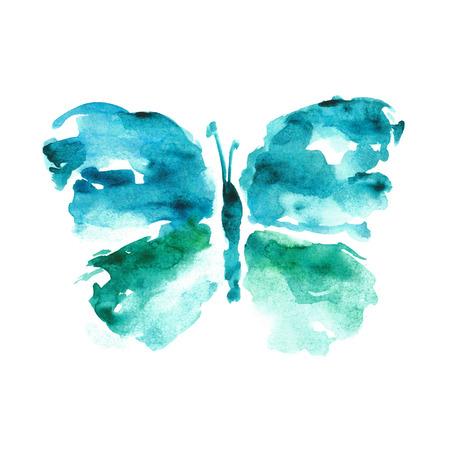 schmetterlinge blau wasserfarbe: Aquarell Schmetterling. Lizenzfreie Bilder