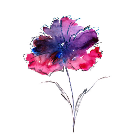 Watercolor floral background.