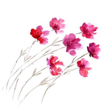 Watercolor floral decoration Floral bouquet.