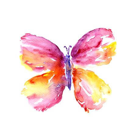 Papillon d'aquarelle. Banque d'images - 31769429