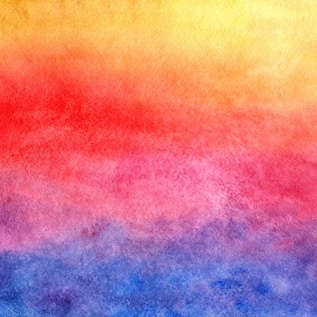 Watercolor background. Sunset. Banque d'images