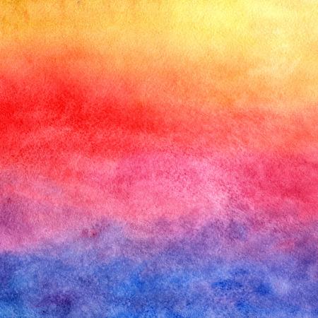Fond d'aquarelle. Coucher de soleil. Banque d'images - 33449138