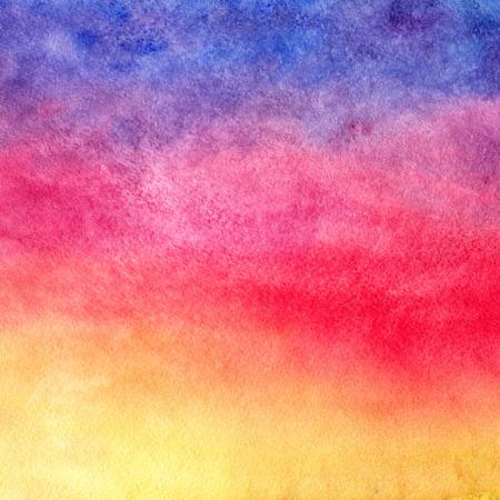 Fond d'aquarelle. Coucher de soleil. Banque d'images - 33449139