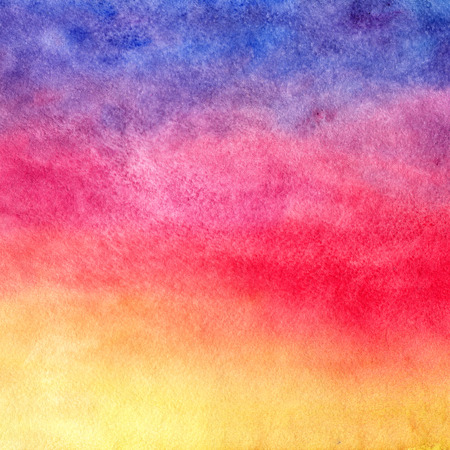 Watercolor background. Sunset. Imagens