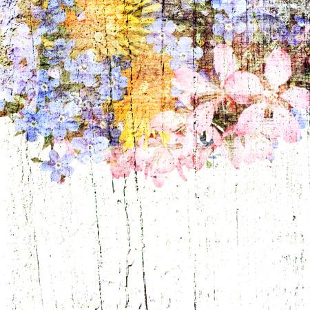 artificial flower: Vintage floral background. Grunge background. Old texture. Provence card.