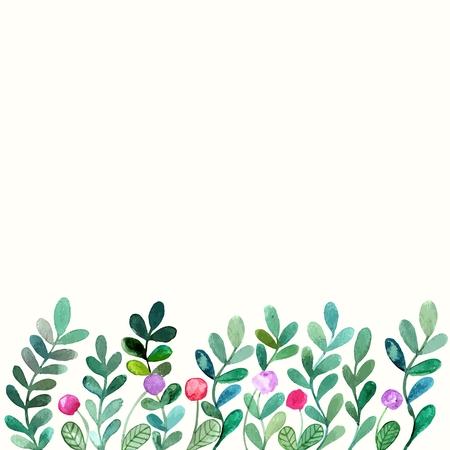 Floral background. Watercolor floral bouquet. Invitation. Floral border. 向量圖像
