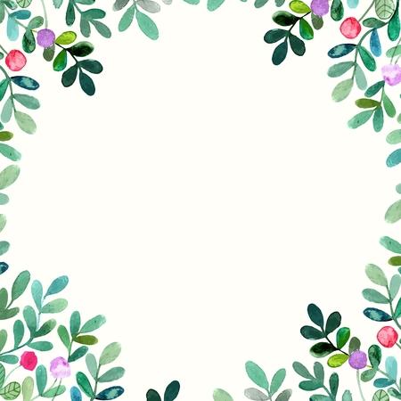 Floral background. Aquarelle bouquet floral. Carte d'anniversaire. Cadre décoratif floral. Banque d'images - 36095079