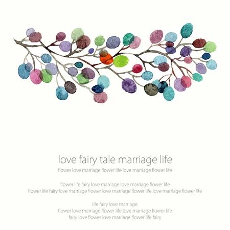 Invitation. Mariage ou carte d'anniversaire. Floral frame. fond d'aquarelle avec des fleurs. Banque d'images - 36152436