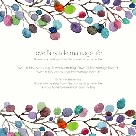 Invitation. Mariage ou carte d'anniversaire. Floral frame. fond d'aquarelle avec des fleurs. Banque d'images - 36152438