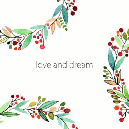 Floral background. Aquarelle bouquet floral. Invitation. Floral border. Banque d'images - 36152448