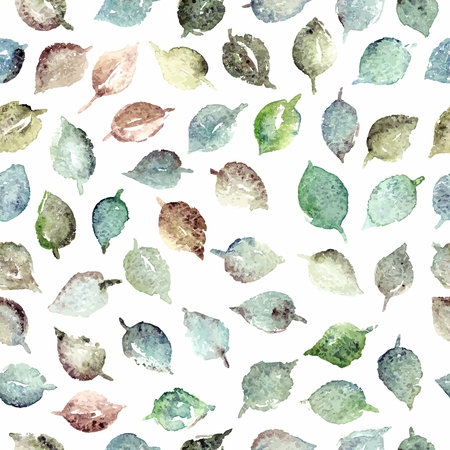 Seamless pattern with leaves. Birthday floral card. Floral watercolor floral background.